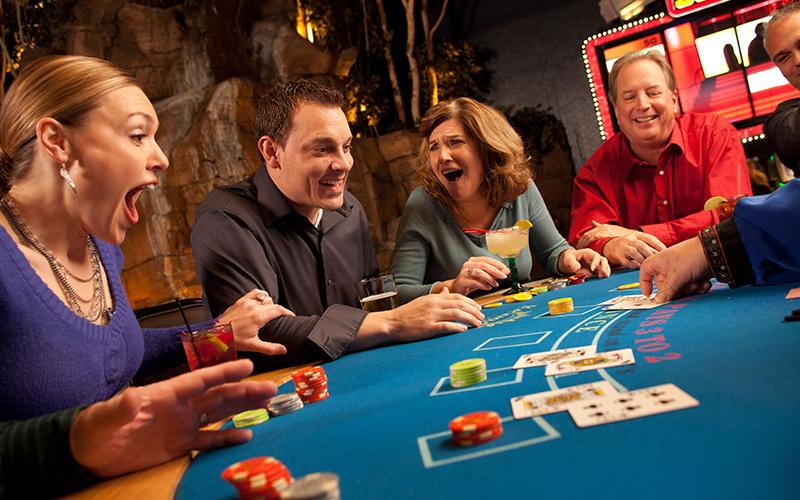 people at a gambling table