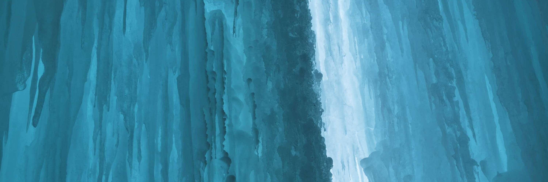Inside of Grand Island ice cave
