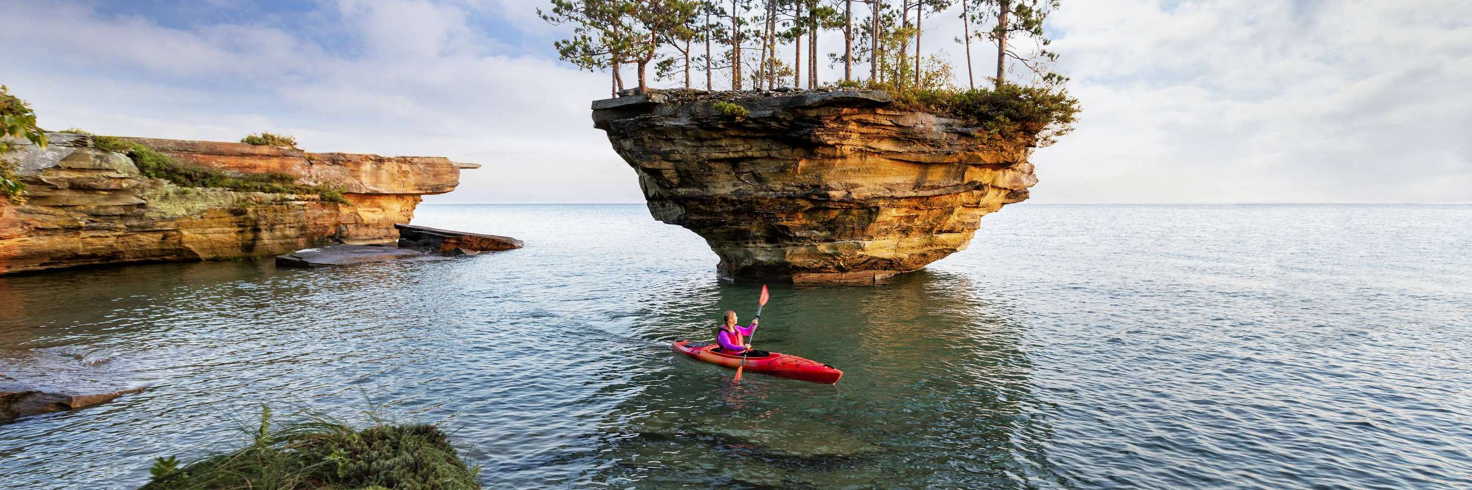 Kayaker at Turnip Rock