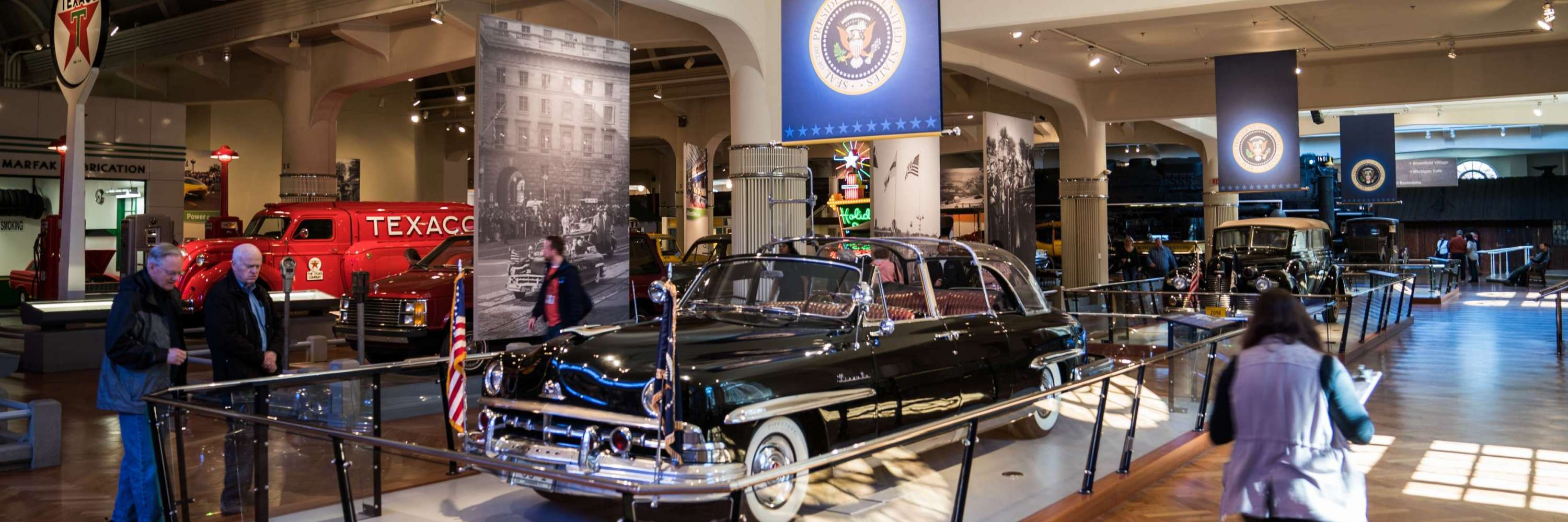 Presidential vehicle exhibit at The Henry Ford Museum