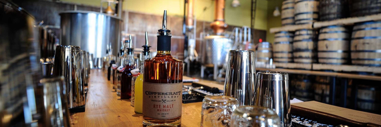 Bar at Copper Craft Distillery