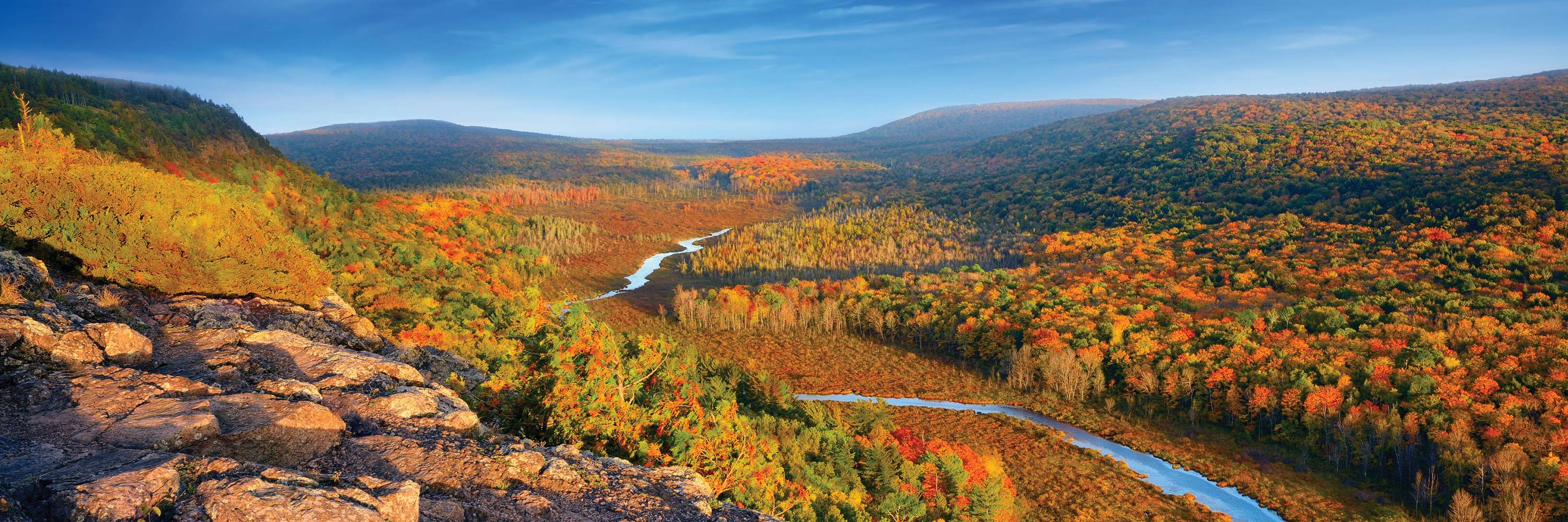 Porcupine Mountains Wilderness State Park in the Fall