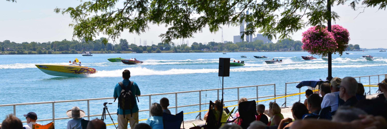 St. Clair Powerboat Race, courtesy Daniel R. Sayers