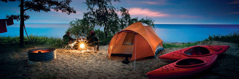 Michigan State parken met volledige hook up