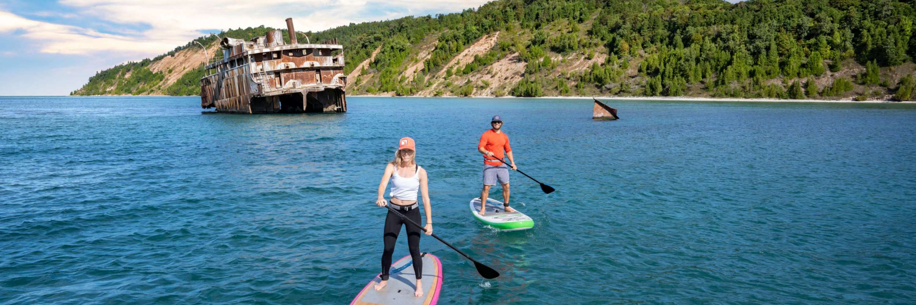 Paddleboard in South Manitou Island