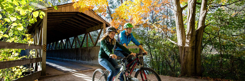 Fall Bike Ride pc CMMcGuire & South Haven CVB