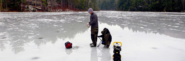 Ice Fishing the UP photo courtesy PhotoYoop