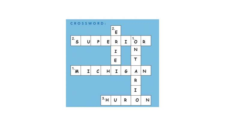 Crosswords with answers filled in