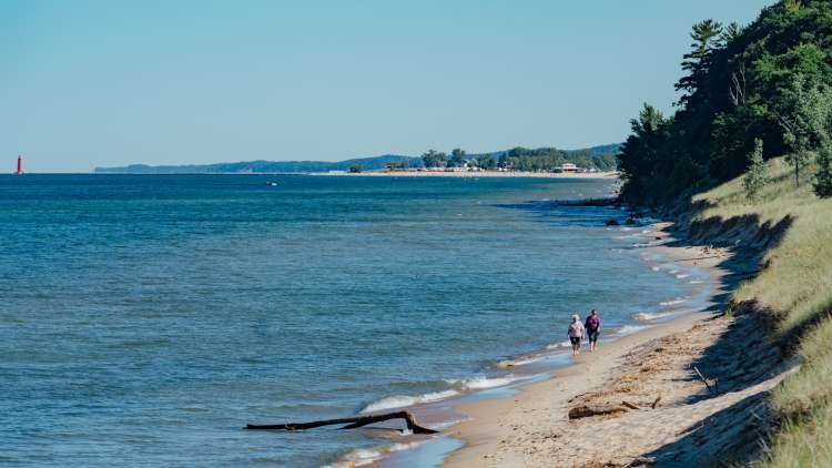 Lake Michigan shore by Grand Haven