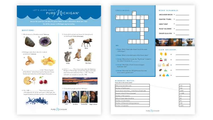 Front and back images of the Fun Facts Worksheet