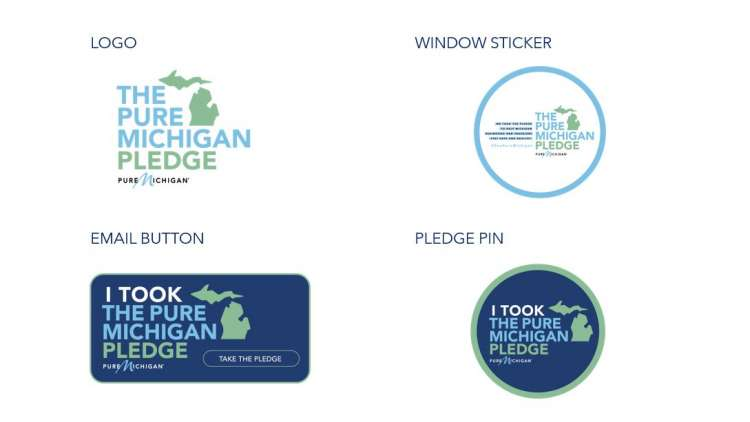 Designs incorporating the Pure Michigan Pledge Logo