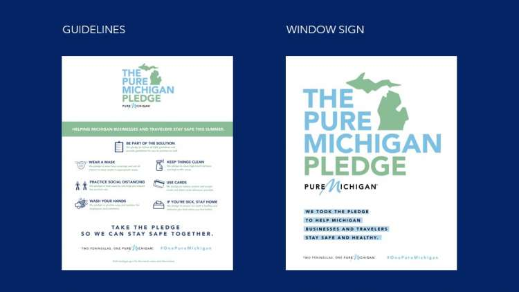 Two printable poster options: Pledge Guidelines and Window Flyer
