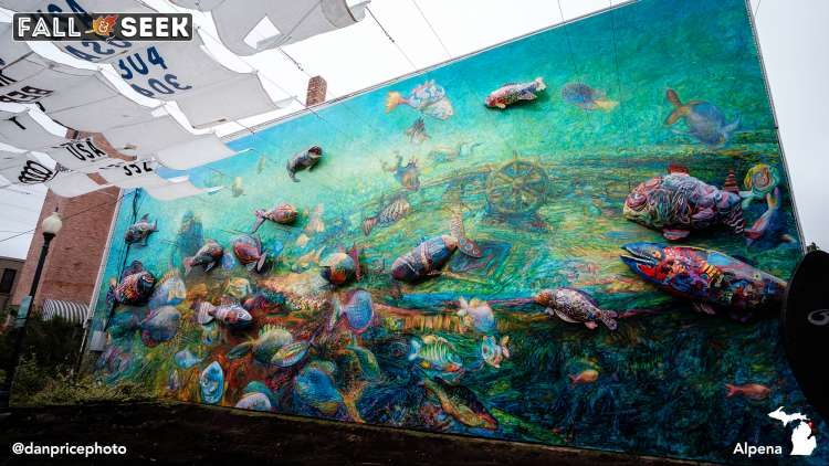 Make a Splash Fish Mural. Photo by Dan Price.