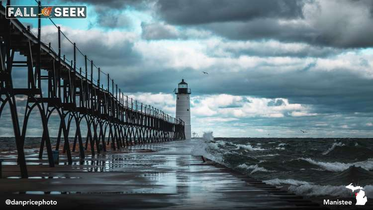 Manistee North Pier Lighthouse, Photo by Dan Price.