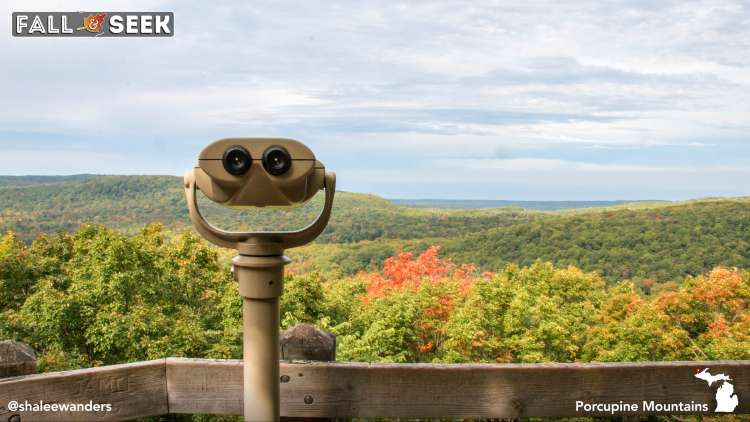 Overlook of fall colors in the Porcupine Mountains. Photo by Shalee Blackmer