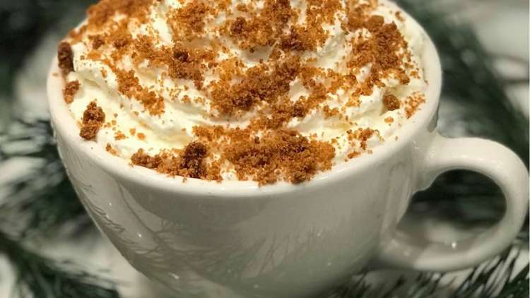 Latte with whip cream and cinnamon