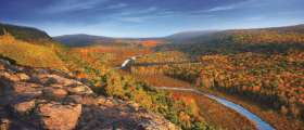 Carp River Valley in Fall at Porcupine Mountains Wilderness State Park