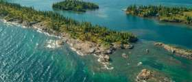 Coastline of Isle Royal National Park