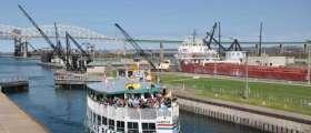 Boat tour in the Soo Locks