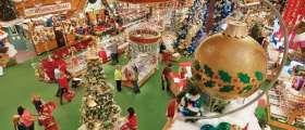 Holiday decor display at Bronner's Christmas Wonderland.