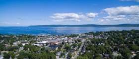 Aerial photo of downtown Petoskey