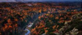 Porcupine Mountains during Fall