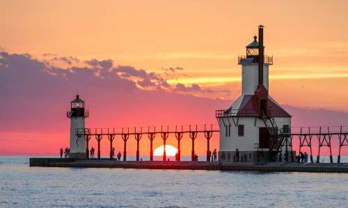 Saint Joseph Lighthouse at sunset