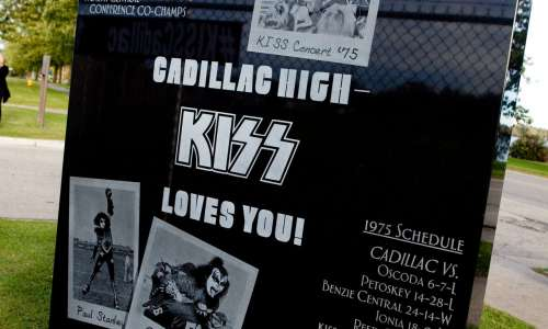 KISS Monument in Cadillac