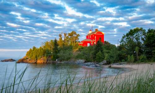 Marquette Lighthouse on Lake Superior
