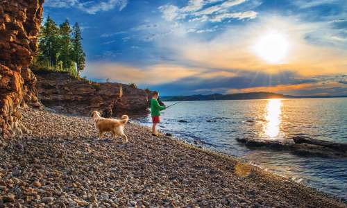 Sunrise Fishing on Lake Huron