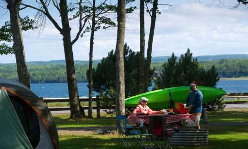 Camping at Baraga State Park