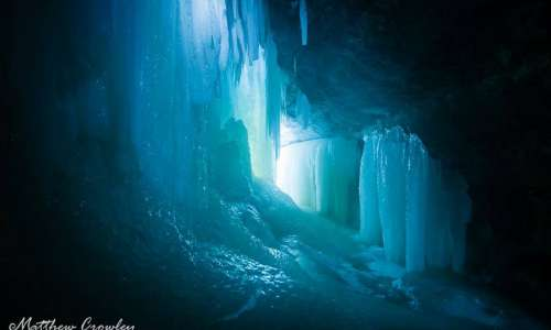Inside the Eben Ice Caves