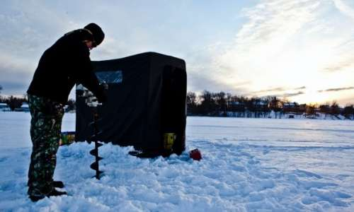 Ice Fishing in Michigan