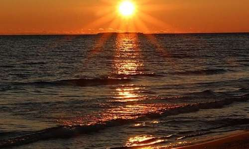 sunset on Michigan Islands