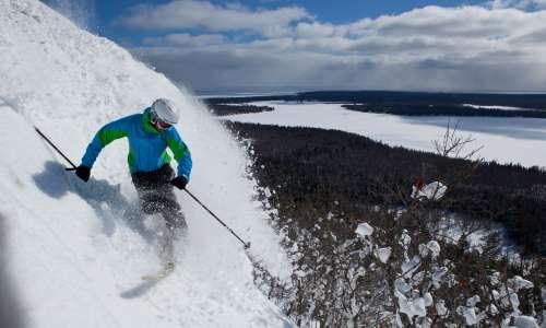Mount Bohemia Skiier