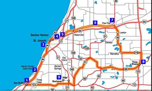New Buffalo Michigan Map.New Buffalo Michigan