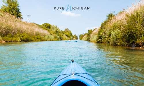 Kayak on a river.