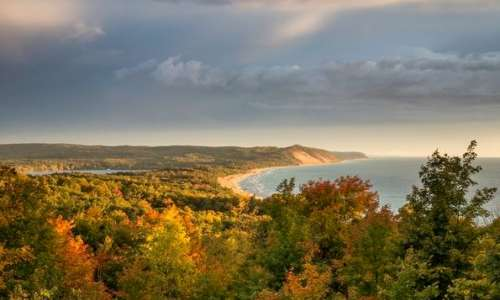 Fall views at Sleeping Bear Dunes National Lakeshore