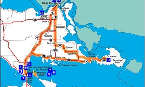 Sault Sainte Marie - Drummond Island - Hessel