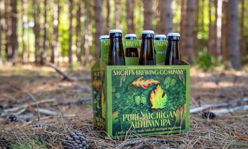 A case of Pure Michigan Autumn IPA from Short's Brewing
