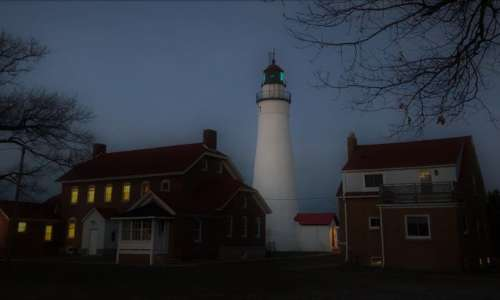 Fort Gratiot Lighthouse at Night