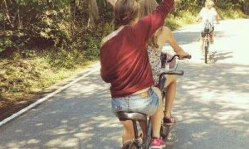 Biking around Mackinac Island