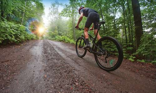 Mountain Biking along Michigan Trails