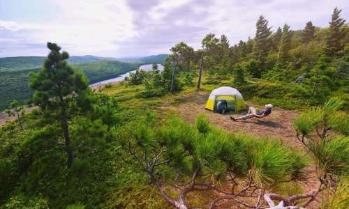 Camping in the Porcupine Mountains