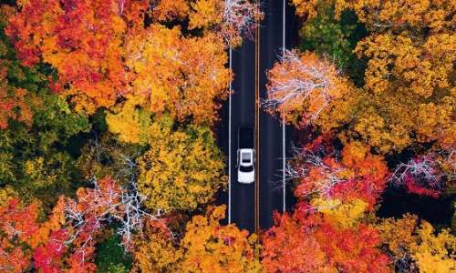 A Fall Road in the Keweenaw Peninsula