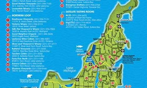 Leelanau Peninsula wine trail map