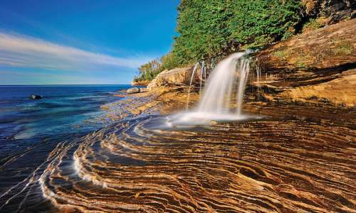 Miners Falls at Pictured Rocks National Lakeshore in Munsing, MI.