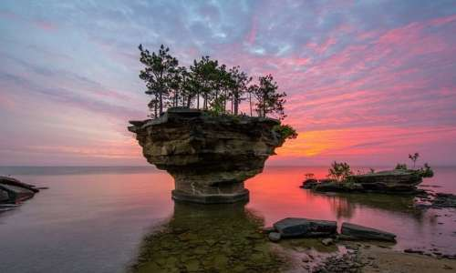 Sunset at Turnip Rock