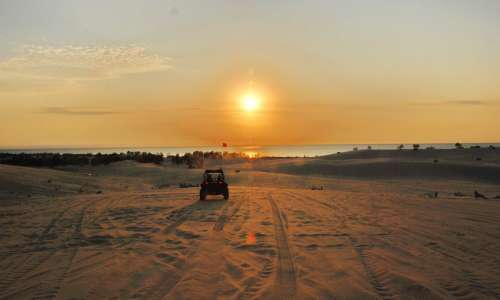 Silver Lake Sand Dunes Sunset
