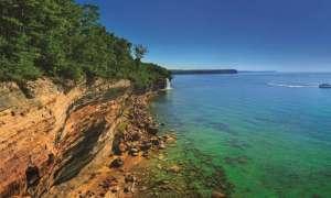 Sandstone cliffs over Lake Superior